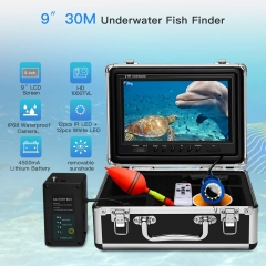 Eyoyo Underwater Fishing Camera Video DVR Recording Fish Finder 7 Inch LCD Monitor 1000 TVL Waterproof Camera Adjustable Infrared & White Light for Ice Lake Sea Boat Kayak Fishing 30m(98ft) Cable