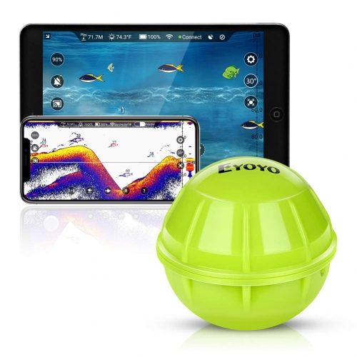 Eyoyo Smart Bluetooth Fish Finder, Portable Wireless Sonar Fishfinder Compatible with iOS & Android Phones for Dock, Shore, Boat, Ice Fishing