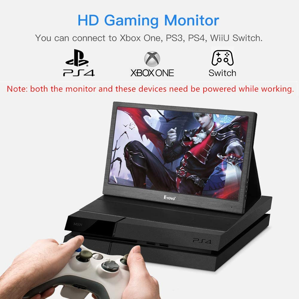 Eyoyo 13 Inch Portable Hdmi Monitor 2k 2560x1440 Ips Gaming Monitor Second Monitor Screen For Laptop Pc Compatible With Raspberry Pi Ps4 Xbox One