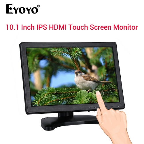 "EYOYO 10.1"" Touch Screen IPS Monitor 178 Degree Support VGA USB HDMI for CCTV"
