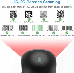 Eyoyo EY-7130 1D 2D Desktop Barcode Scanner, with Automatic Sensing Scanning Omnidirectional Hands-Free Barcode Reader QR Screen Scanning Platform Scanner for POS PC Supermarket Bookstore Retail Mall