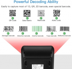 Eyoyo Hands-Free 2D QR Barcode Scanner, Omnidirectional Desktop Automatic 1D Barcode Reader Big Scan Window to Read PDF417 on ID Card, Driver's License, Passport for Supermarket Library Retail Store